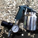 Pistol de sablat de înaltă performanță cu manometru de reglare a presiunii