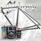 Vopsea cu efect de crom pentru biciclete - set complet în culori la alegere