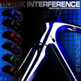 Set de vopsea negru pentru interferențe pentru biciclete - 6 culori